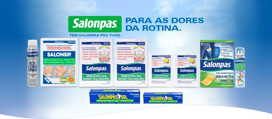 Conheça todos os produtos da família Salonpas - Clique para ver mais detalhes